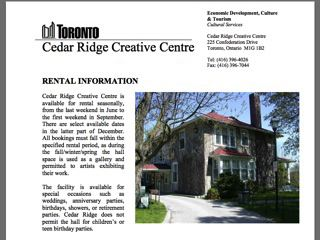 Cedar Ridge Creative Centre Metro Toronto Wedding Venues